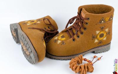 Ботинки Масленица с русунком