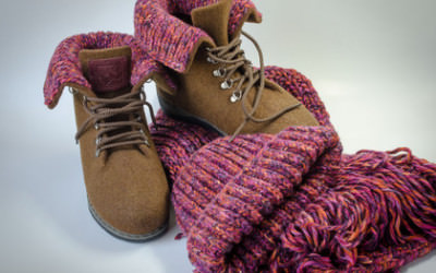 ботинки из войлока