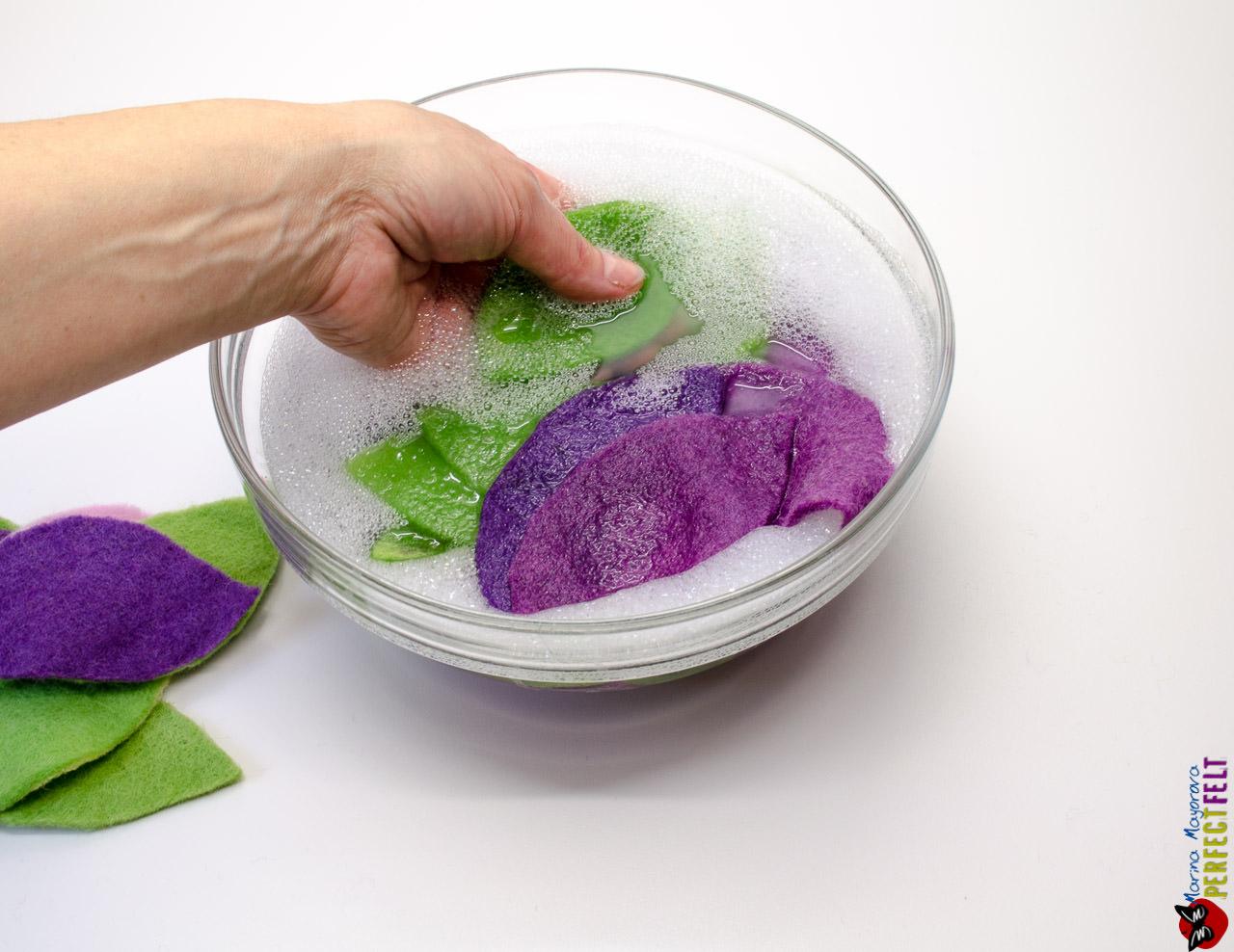 пасхальный венок замыливаем срезы