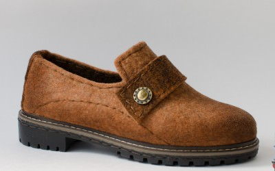 туфли из войлока терракота