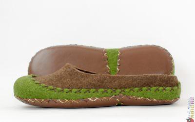 Тапочки мокасины из войлока «Команчи»